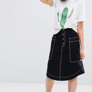 MONKI POCKET MIDI SKIRT
