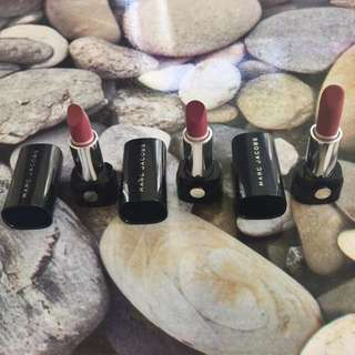 Marc Jacobs Deluxe size lipsticks