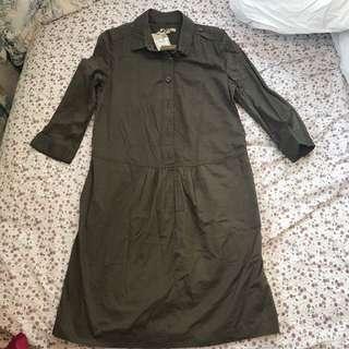 Burberry 啡色中袖連身裙