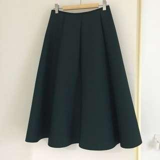 Full skirt (Small) in deep green