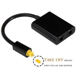 #8. VIMVIP Toslink Digital Optical Fiber Optic Splitter 1 in 2 Out Audio Adapter Cable -Black