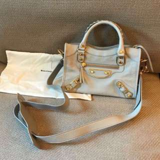 Balenciaga mini city metallic edge
