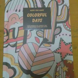 Notebook note book Colorful Days Miniso