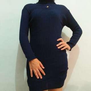 dress turtleneck navy blue