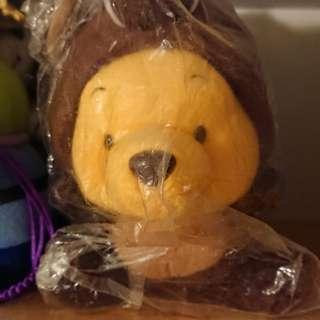 Winnie the Pooh 啡色豬仔造型毛公仔