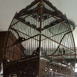 Penang jambul square Cage With cloth
