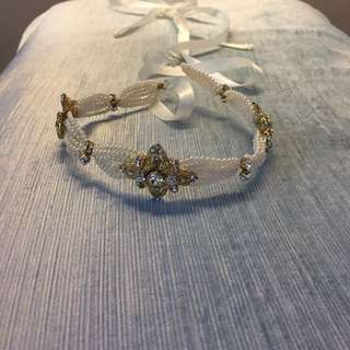 Pearls and crystals headband