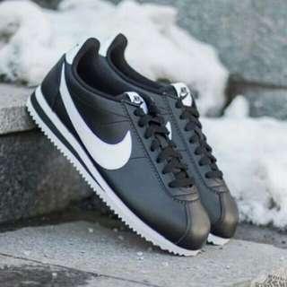 Nike Cortez men Black Leather Original