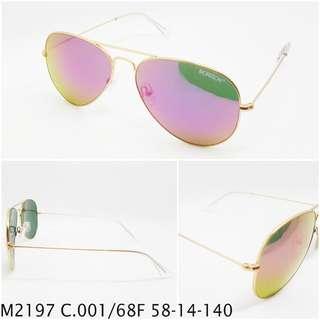 Aviator Sunglasses , medium size, Mirror Pink lens , glass lens