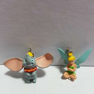 Disney fastener - Dumbo and Tinkerbell (1 pair)