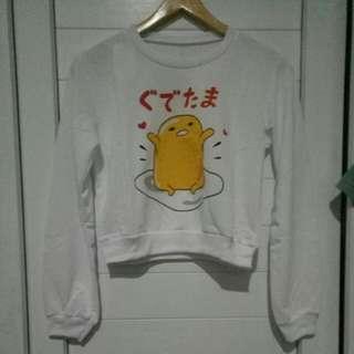 Crop sweater gudetama