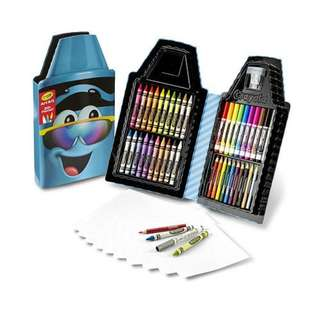 Crayola Tip Tool Kit, Turquoise, 50 Art Tools and Paper, Tip Character Case, Makes a Great Gift!