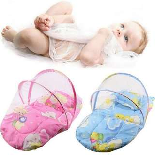 BABY COTTON PADDED MATTRESS PILLOW BED MOSQUITO NET