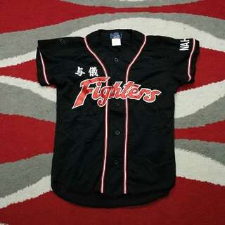 Fighters baseball jersey kid saiz 11-14 tahun