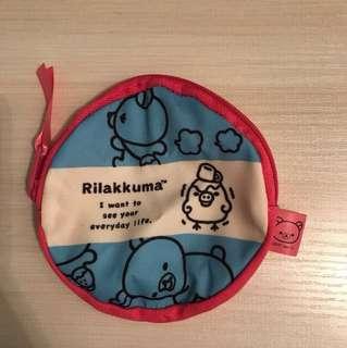 鬆弛熊 散紙包 耳機袋 小型雜物袋 化妝袋仔 唇膏袋 日本精品