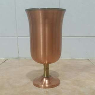 Vintage copper footed cup