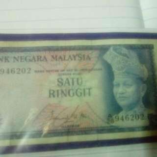 wang kertas satu ringgit keluaran thn 1986