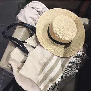 H&M 竹編帽