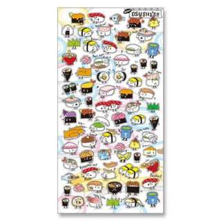 Mindwave Japan Sushi emotion stickers. Bujo scrapbooking stickers
