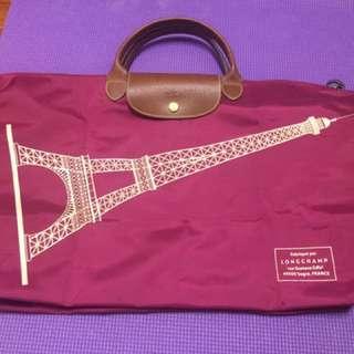 🚚 Longchamp 紫 巴黎鐵塔 旅行 L