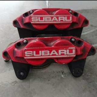 Subaru WRX Brake Kit Calipers 4 Pot 2 Pot Rotors