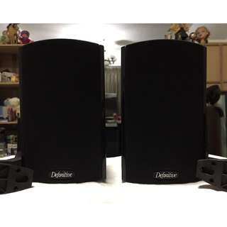 Definitive Technology ProCinema ProMonitor 600 Bookshelf/Satellite Speakers with original Wall-mount brackets, Made in U.S.A (8 Ohms, 150Watts, Black).