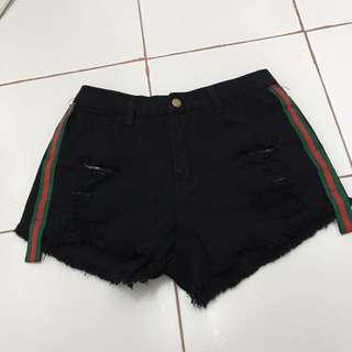 Fashion Denim Black Short Pants