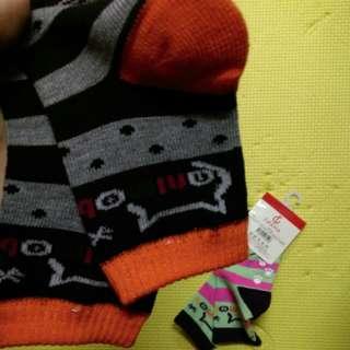 多色純棉防滑BB襪仔  $6/對  $20/4對