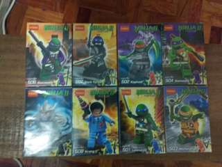 decool ninja turtles 8 in 1