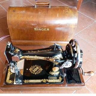 1935 SINGER Mesin Jahit Tangan RARE tudung baju butik levis