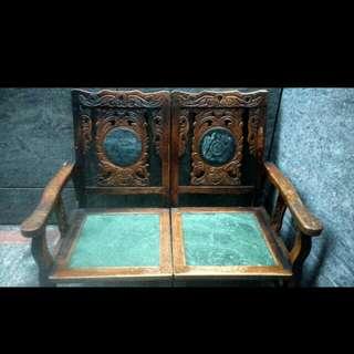 古董大理石實木椅