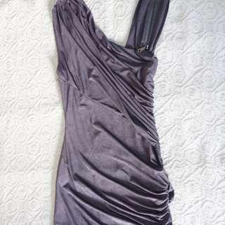 Grey body con dress