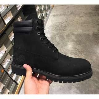 Timberland/添柏嵐/天木蘭 男女款 黑色真皮防水工靴