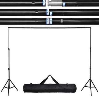 BN 2.6m x 3m Studio Backdrop Stand - Suits Photobooth, Video, YouTube Etc