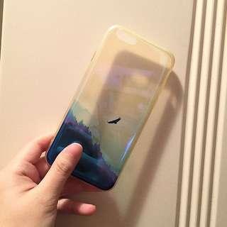 iphone case 自然 森林 山景 飛鳥 半透明 手機殻保護殻