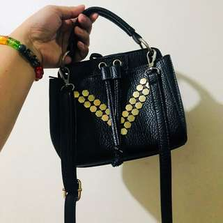 Black and Gold sling bag h&m inspired zara inspired
