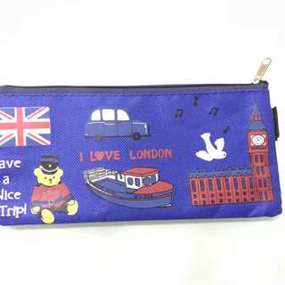 I Love London,pencil case(Canvas)