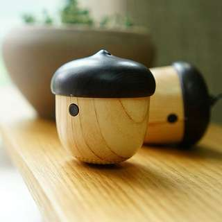(READY STOCK) Acorn Nut Wooden Portable Bluetooth Speakers