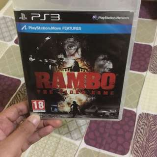 PS3 rambo the video game
