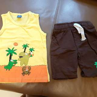 Top & shorts set for boy