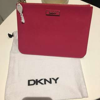 DKNY hot pink pouch