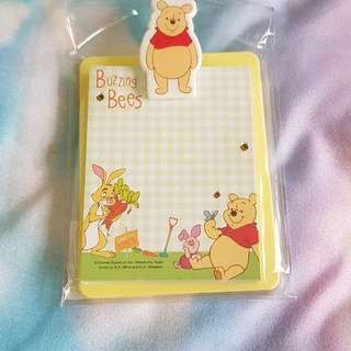Winnie the pooh notepad with clip board