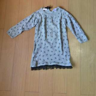 Mini Sweater Material Kids Dress