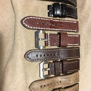 Panerai 代用牛皮錶帶,24mm