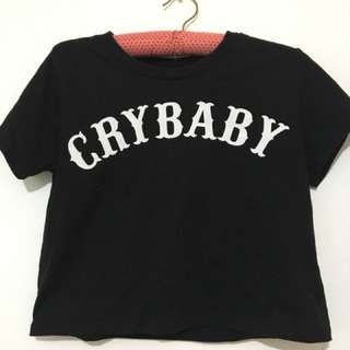 F21 crybaby semi-cropped top