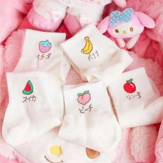 (PO) basic fruit socks 🍍 | accessories