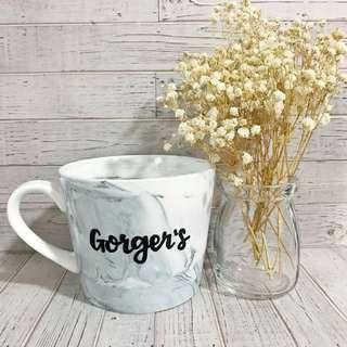 Minimalist marble coffee mug