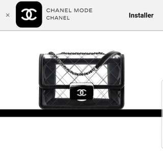 Authentic - Chanel Flap Bag Transparent Toile