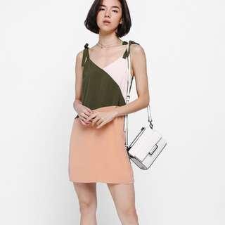Love Bonito Bealla Colour Block Dress (Olive)