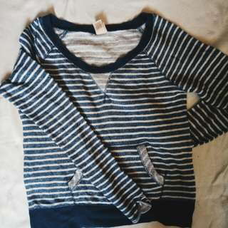 Blue stripes pull over *repriced